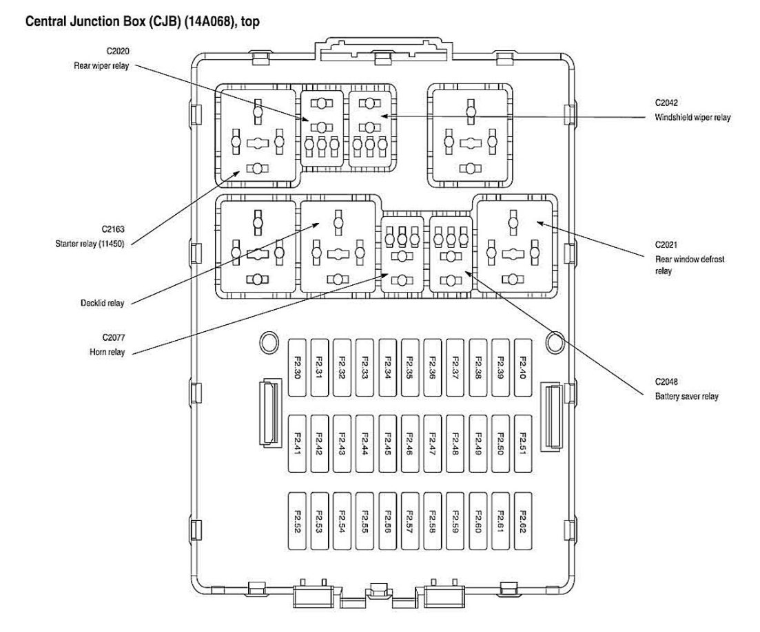 2000 ford focus zts fuse box diagram
