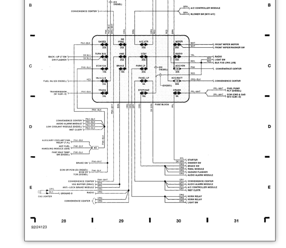 93 chevy heater control wiring diagram