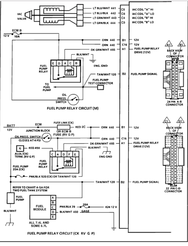 V Engine Fuel Injector Wiring Diagram Gmc Truck on