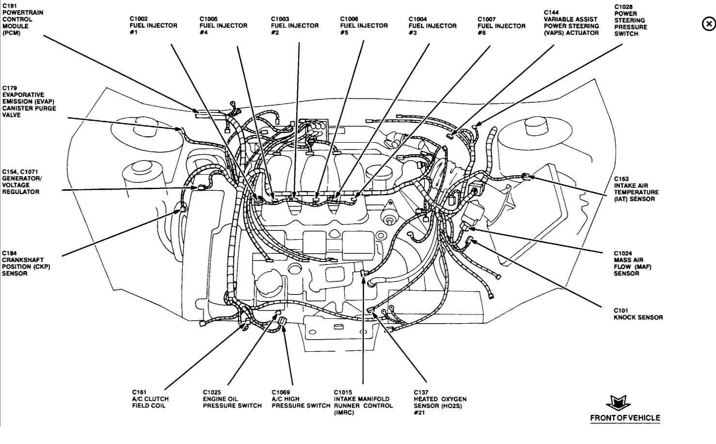 2000 oldsmobile intrigue engine fuse box panel diagram