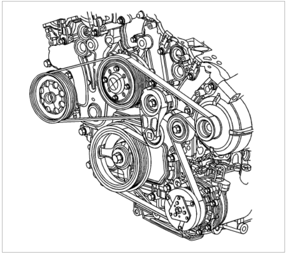 serpentine belt replacement engine mechanical problem 6 cyl front rh 2carpros com 2003 Buick Rendezvous Coil Pack Diagram 2005 Buick Rendezvous Engine Diagram
