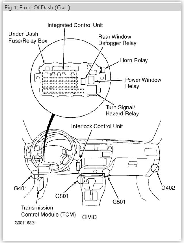2007 Honda Civic Horn Relay Location Wiring Diagrams
