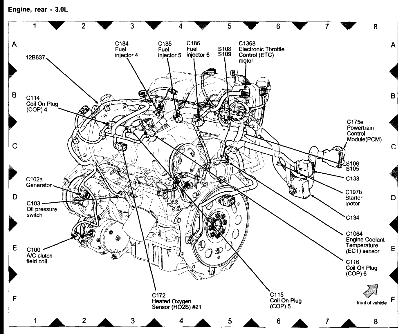 chain replacement 2006 subaru tribeca engine diagram