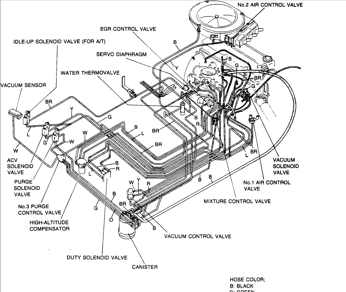 mazda 626 vacuum line diagram  mazda  auto parts catalog