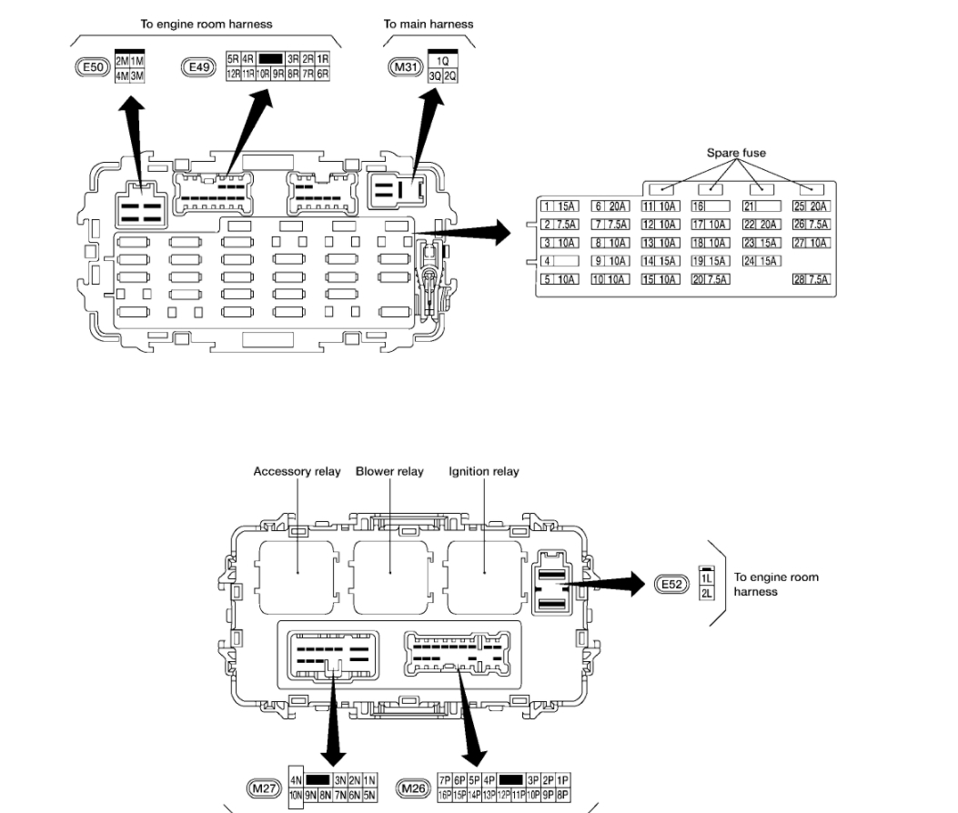 nissan x trail 2003 fuse box diagram wiring diagram \u2022 2007 nissan versa fuse box diagram where is the central locking fuse where can i find the central rh 2carpros com 2005 nissan altima fuse box diagram nissan pathfinder fuse box diagram