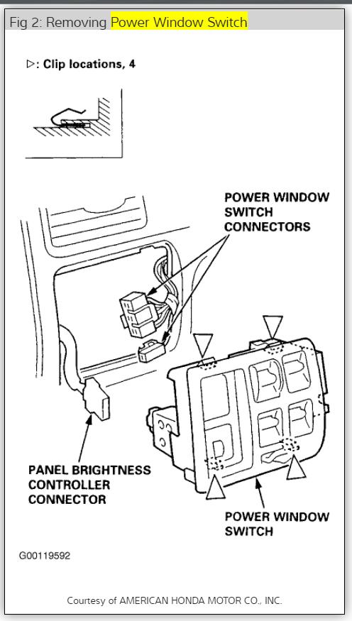 1999 honda crv power door locks not working