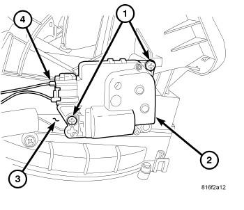 2010 dodge journey blend door actuator diagram