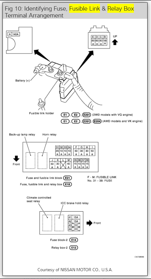 2007 Infiniti M35 Fuse Box Diagram