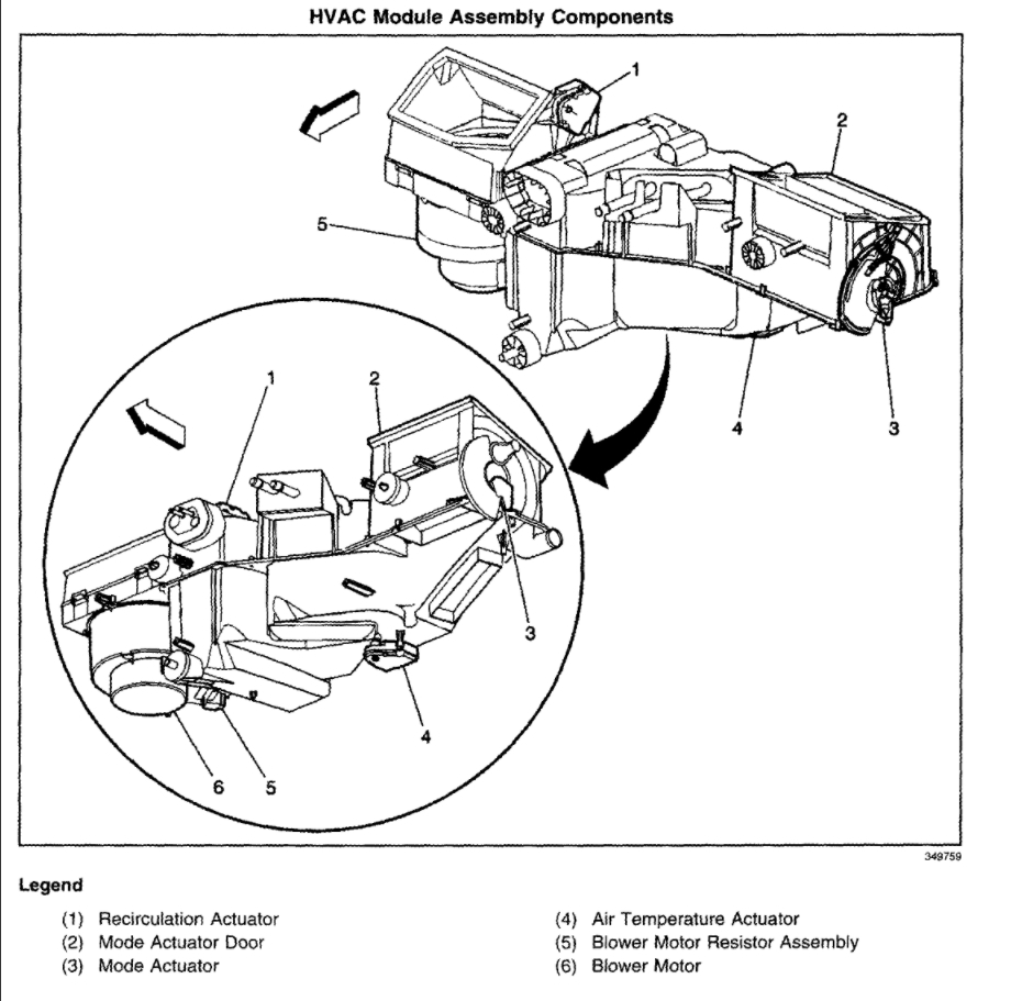 Blend Door Actuator Replacement Mode I Noticed That The Air Is 2014 Gmc Sierra Rear Defroster Wiring Diagram Thumb