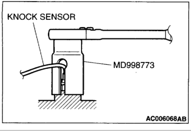 Location Of Knock Sensor  Engine Performance Problem 4 Cyl