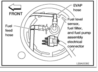 fuel filter location  engine performance problem 4 cyl