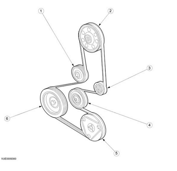 2002 ford focus 2 0 sohc serpentine belt diagram