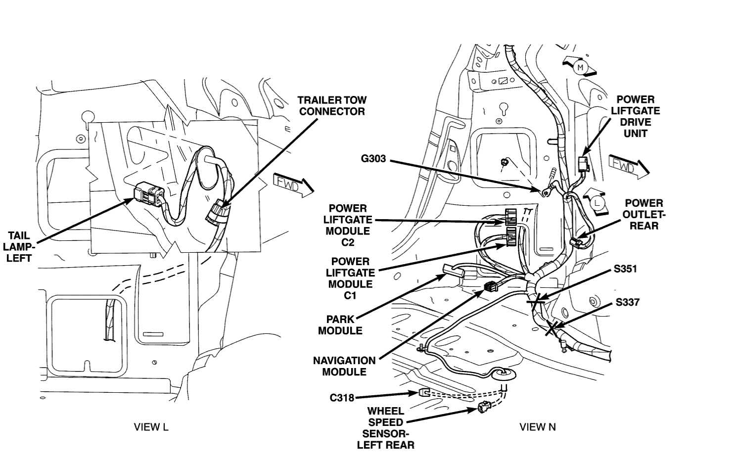2007 chrysler pacifica lift gate lock wiring diagram