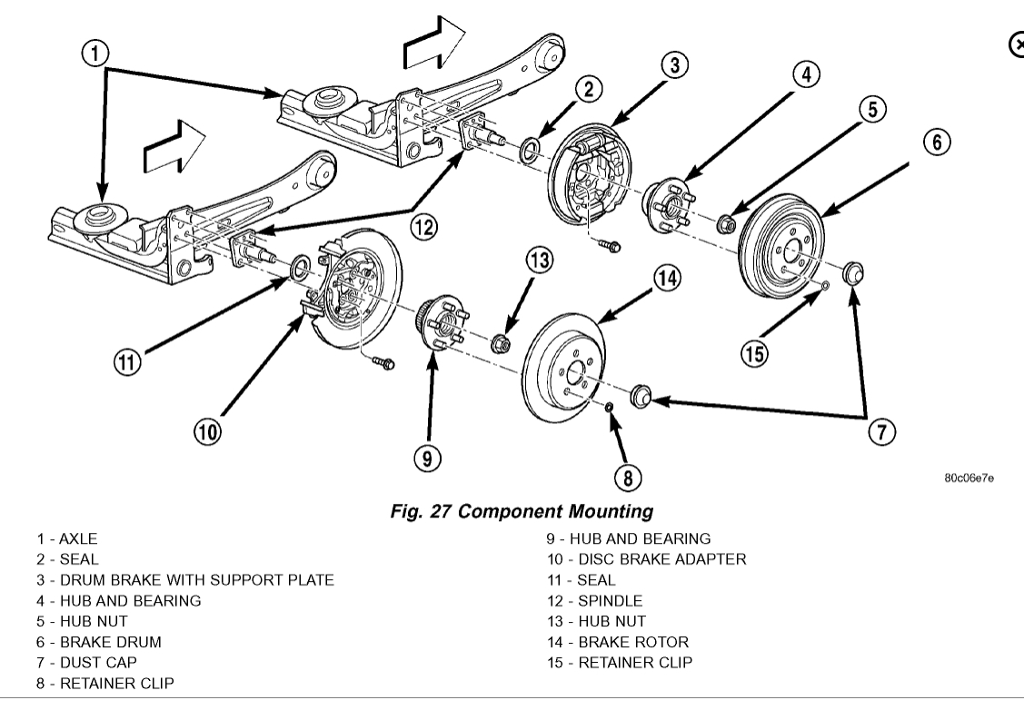 Pt Cruiser Axle Diagram Start Building A Wiring 2001 Chrysler Fuse Box Front Hub Bearing Which Size For Manual Rh 2carpros Com Radiator Parts