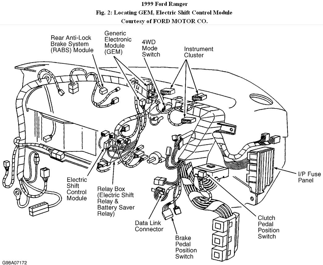 1999 Ford Ranger Clutch Pedal Schematic Wiring Diagram 99 Fuse 4 Wheel Drive I Have A With The Electronic Rh 2carpros Com Parts