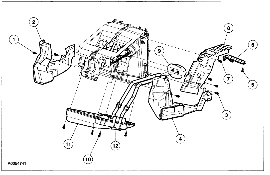 2003 ford explorer hvac diagram