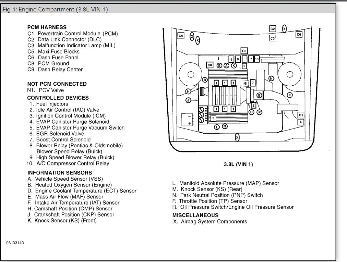 fuel pump relay other category problem engine size unknown front