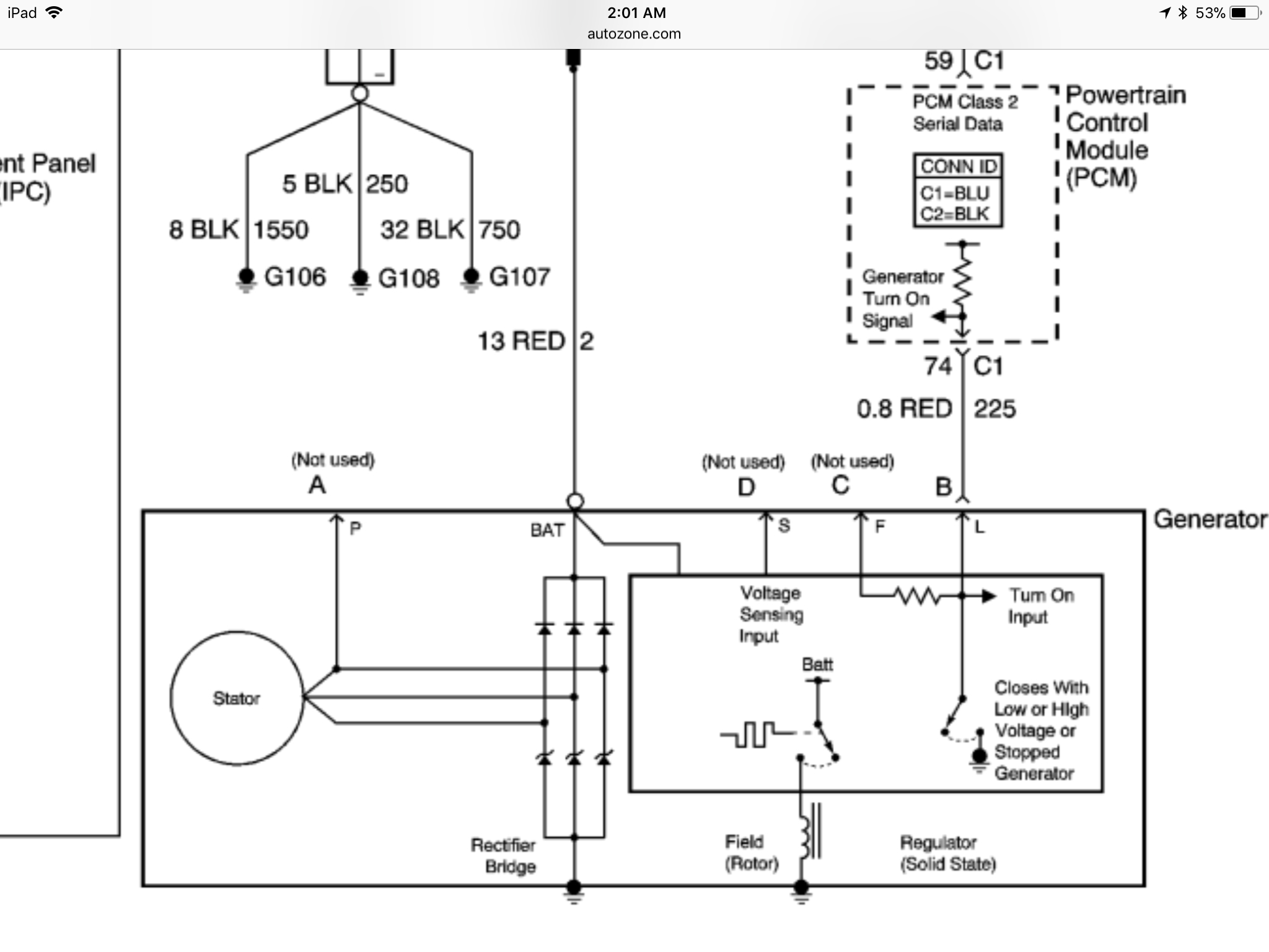 PCM Fail to Signal Alternator to Charge  Dodge Mins Alternator Wiring Diagram on