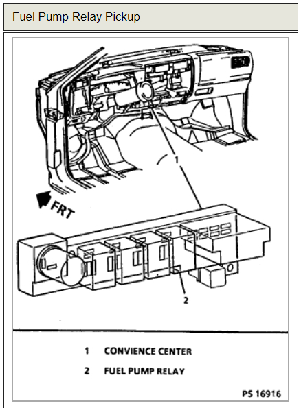 Chevy S10 Relay Wiring Schematic Diagram