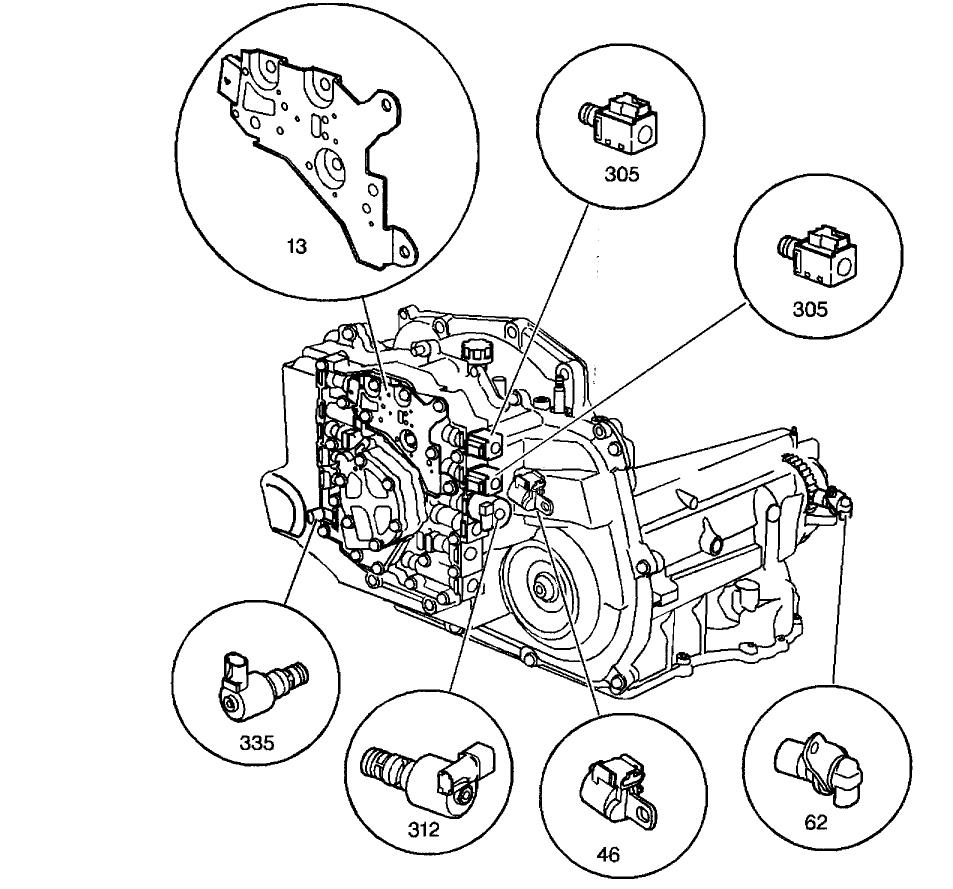 2002 chevy silverado transmission diagram