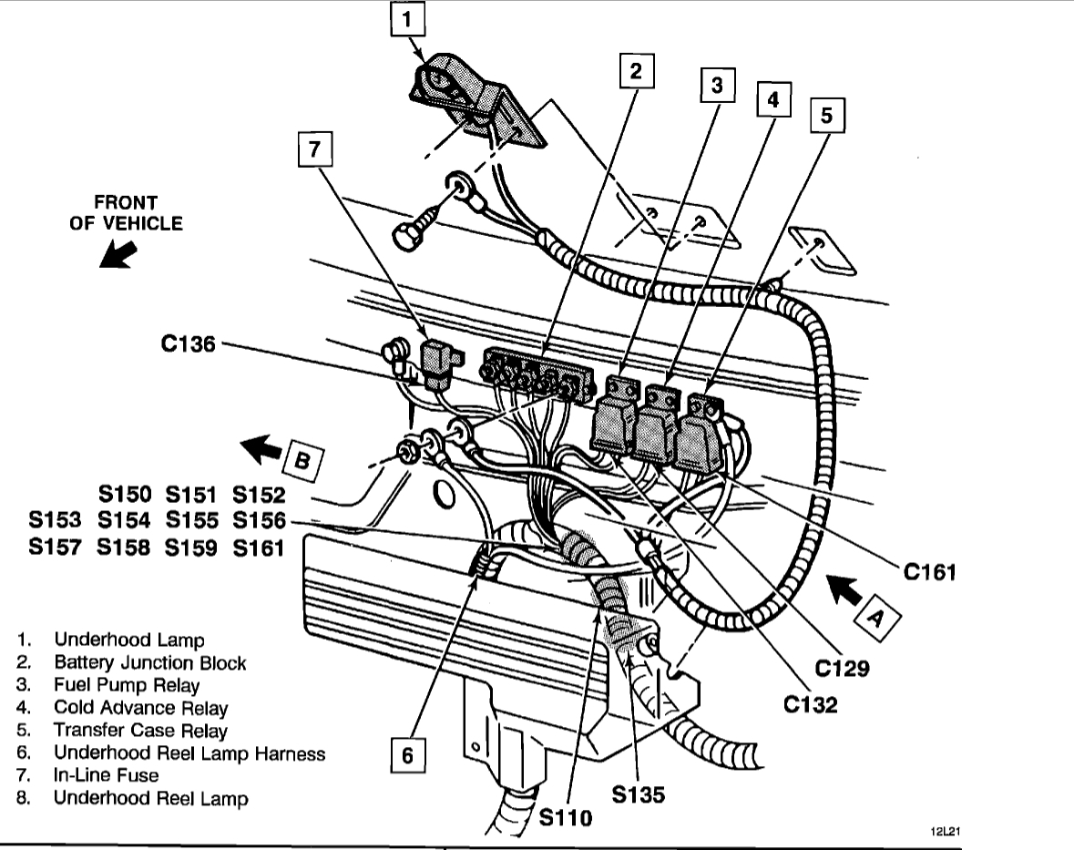 Where Is The Fuel Pump Relay   Electrical Problem V8 Four