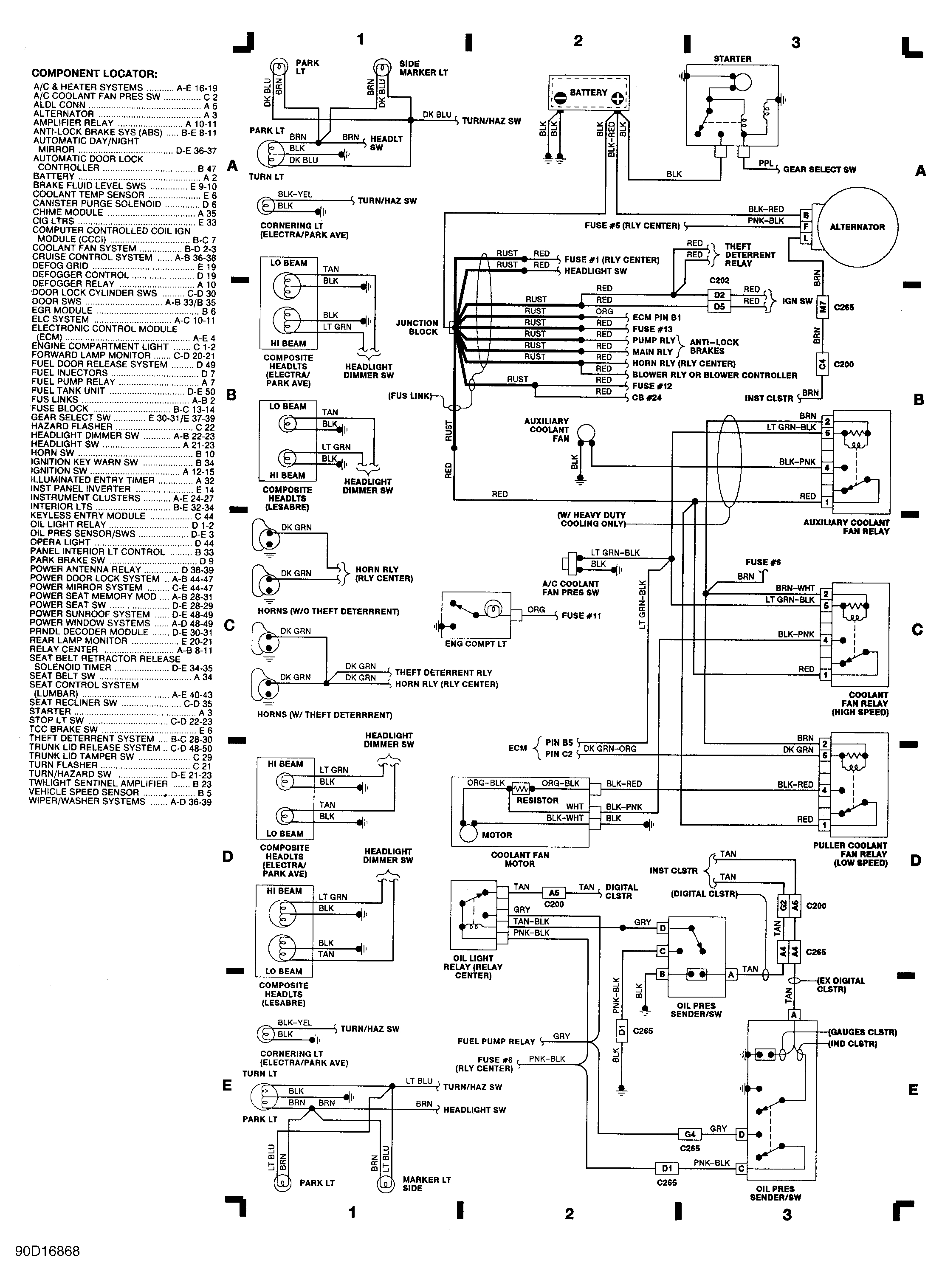 1990 Chevy Lumina Wiring Diagram Detailed Schematics Chrysler New Yorker Schematic Diagrams 92 1500 Transmission Buick Lesabre Cooling
