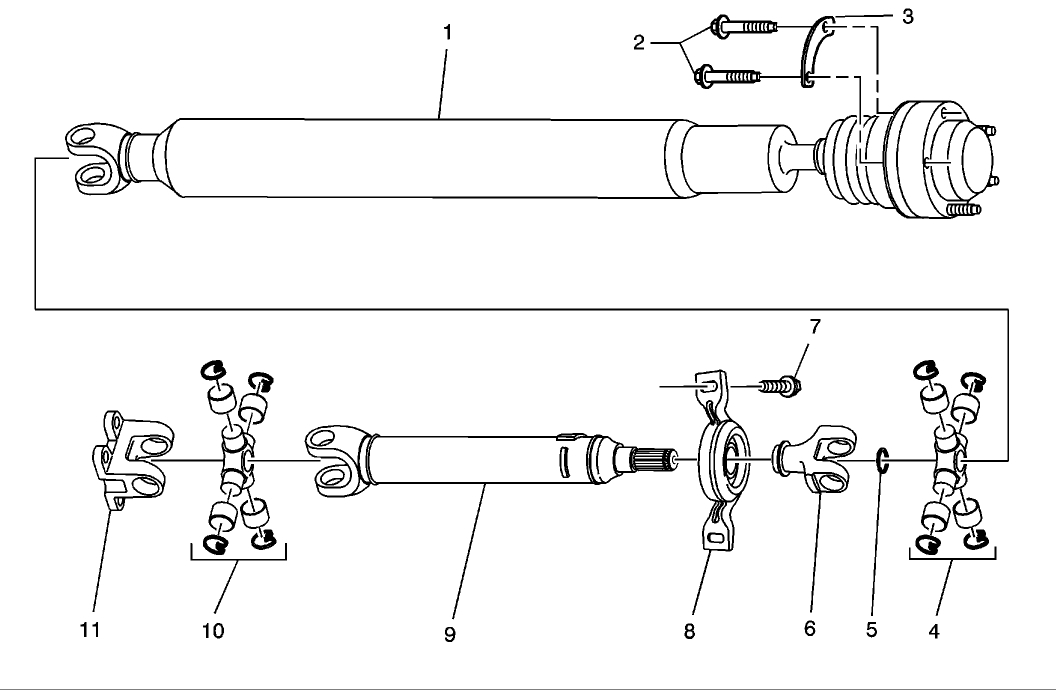 Driveshaft  I Need A Schematic Of The Drive Shaft For The Rear