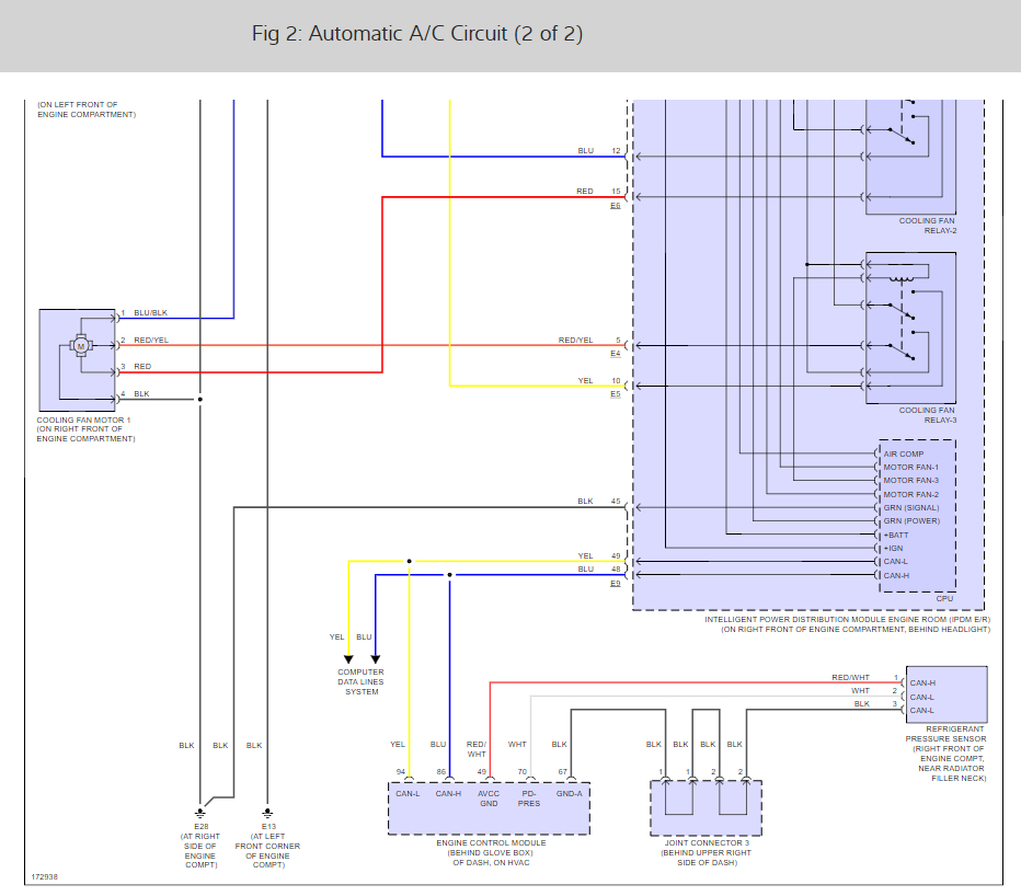 where is the a c control relay located Nissan Titan Headlight Harness Diagram