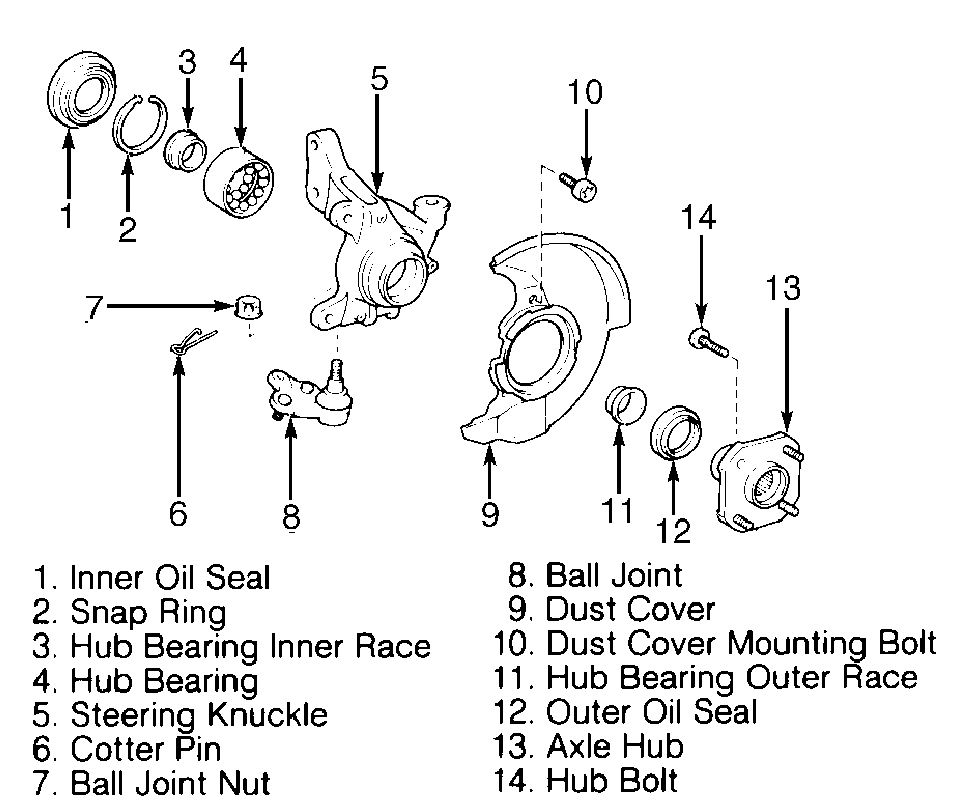 Service Manual How To Replace 1995 Toyota Tercel Front