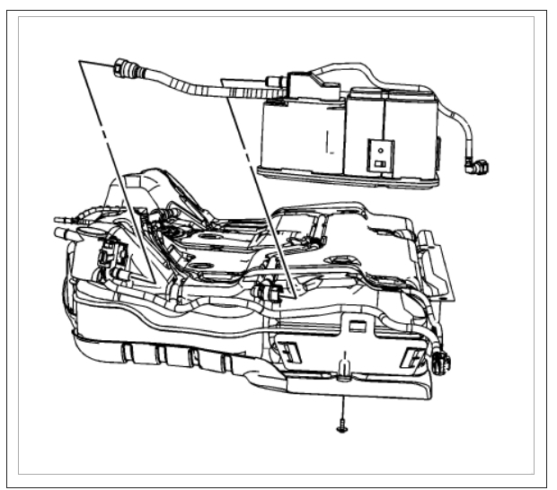 service manual  how to replace evap canister on a 2006
