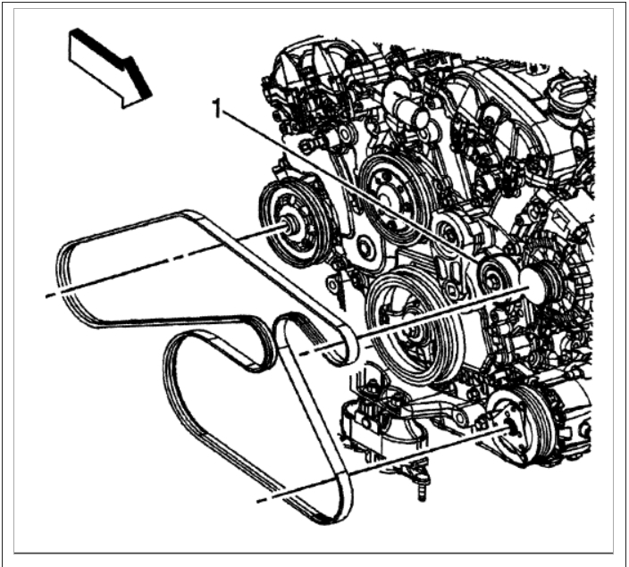 serpentine belt  is there a routing diagram for the