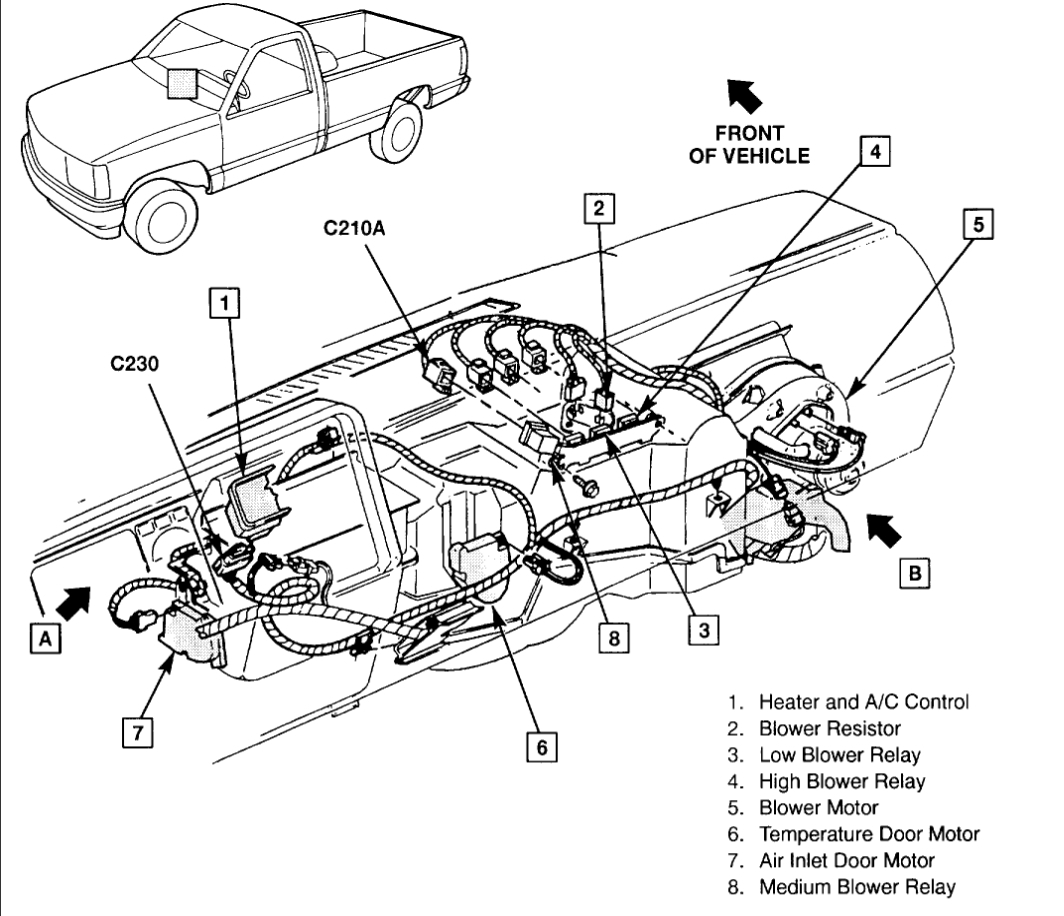 Heater Not Working The In My 1994 Chevy Silverado 43l Blower Engine Diagram Thumb