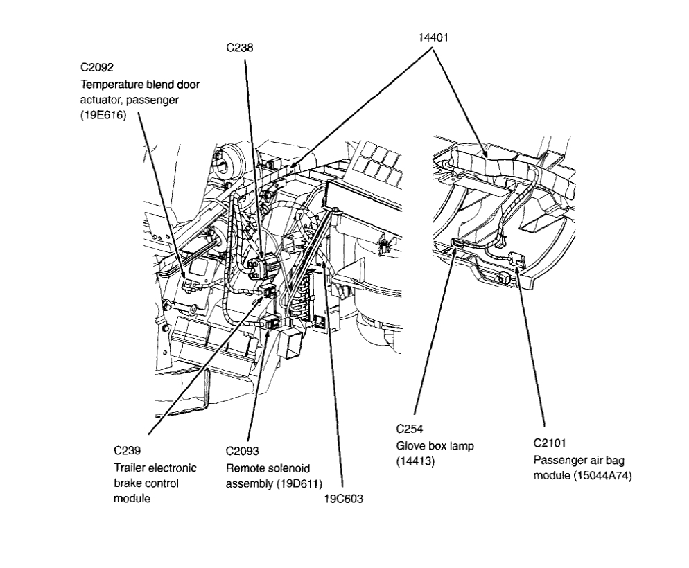 2004 Ford Explorer Blend Door Actuator Diagram