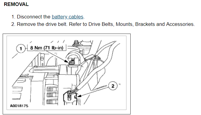 Replacing The Alternator How Big Of A Job Is It To Replace Rh2carpros: Ford Escape Alternator Wiring Diagram At Gmaili.net