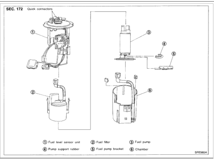 2001 infiniti i30 fuel filter location