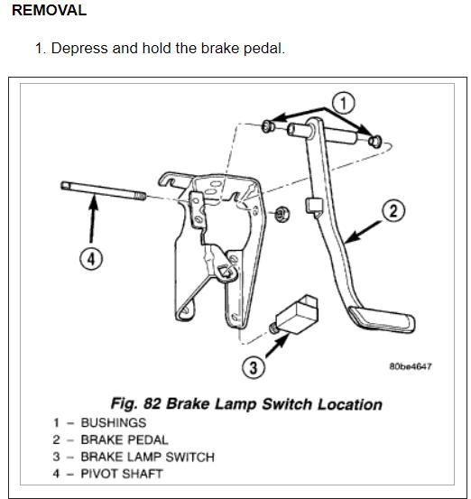 2000 Dodge Intrepid Fuse Box Fuse 6a: Brake Lights Not Working: 2000 Dodge Intrepid Parking