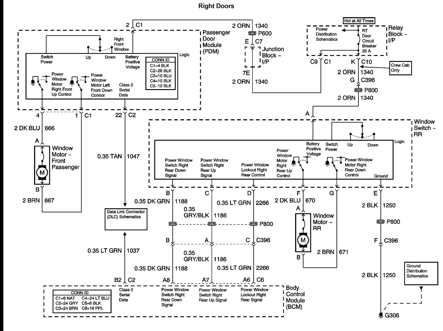 2004 Chevy Silverado Passenger Power Windows  I Have A