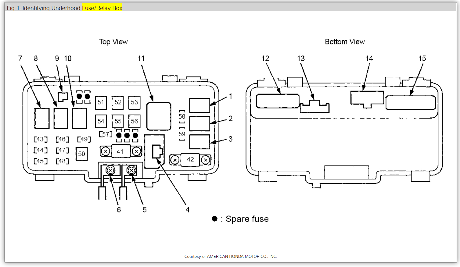 2007 Acura Mdx Fuse Box Diagram