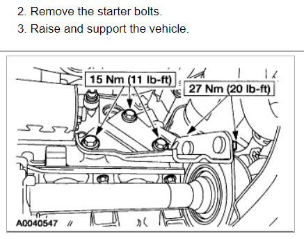 Starter Replacement Instructions How Do I Replace Motor 2000 Ford Expedition Diagram 2006 Escape