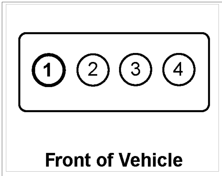 2004 Chevy Aveo FIRING ORDER DIAGRAM I NEED THE FIRING ORDER