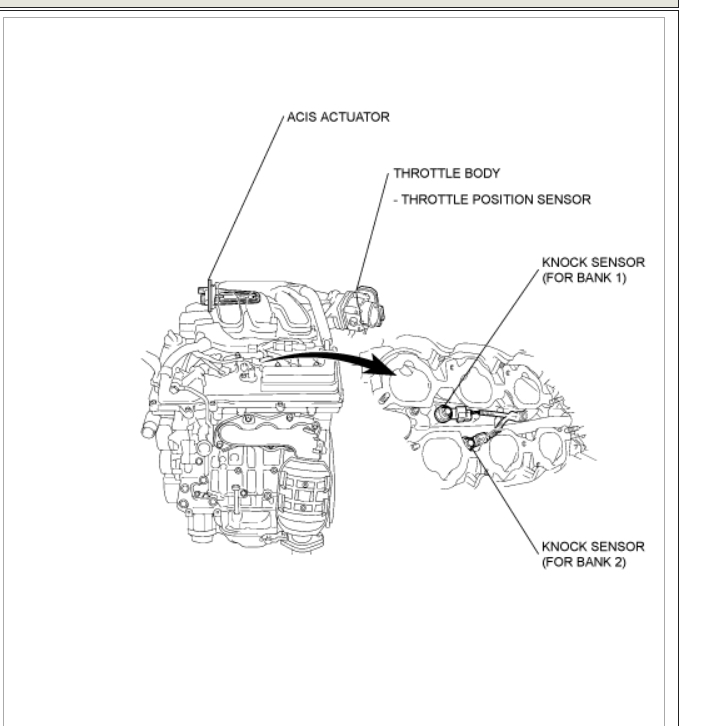 how to locate rav4 knock sensor  car got code p0328