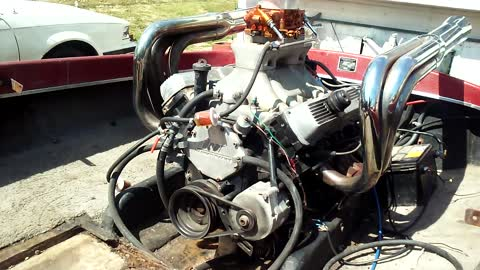 Engine Noise: This Is a 455 Olds in a Jet Boat  I Winterized It