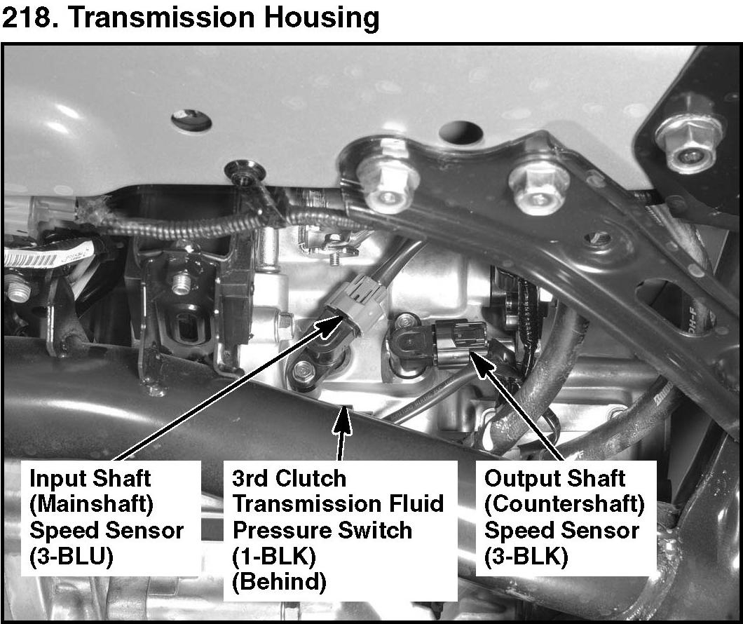Please Help Looking For A Transmission Removal Diy: Code P0722: Hi, Where Is The Input Shaft Speed Sensor Located?