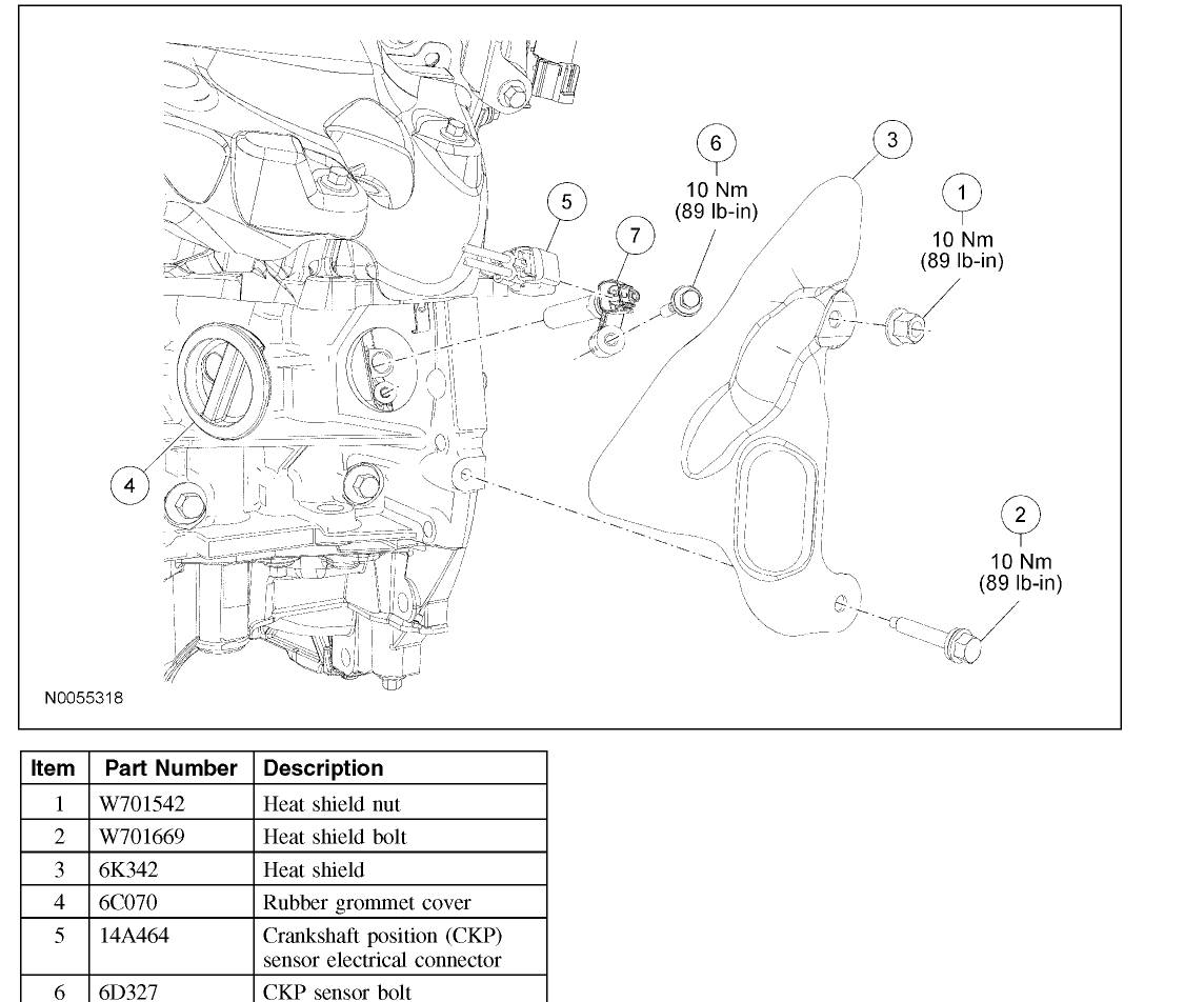 crankshaft position sensor location  where is it located under the