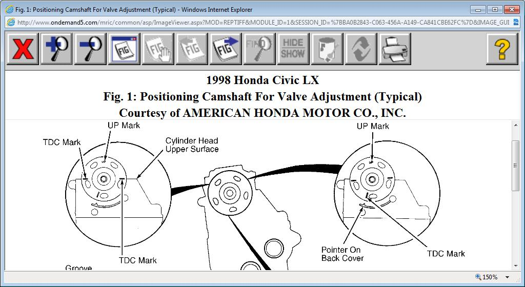 verify cam and crank timing marks my car is the lx model. Black Bedroom Furniture Sets. Home Design Ideas