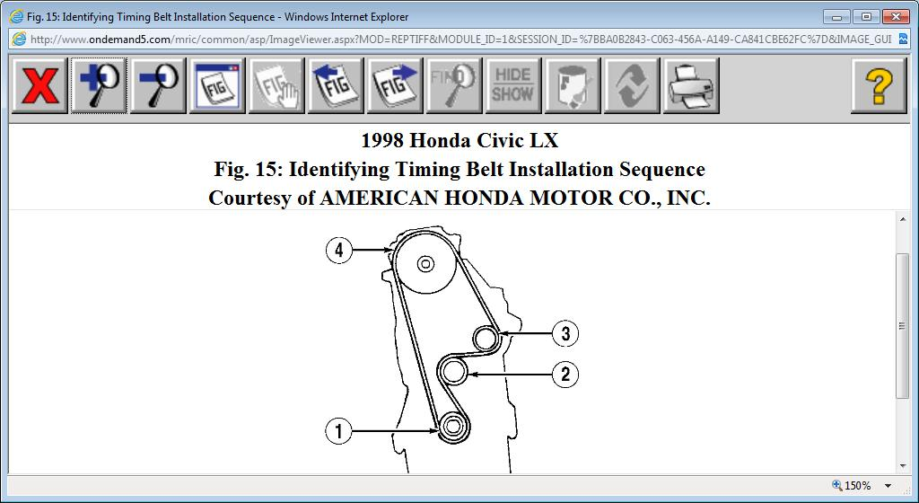 Verify Cam And Crank Timing Marks My Car Is The Lx Model Four Rh2carpros: 1998 Honda Timing Belt Location At Gmaili.net