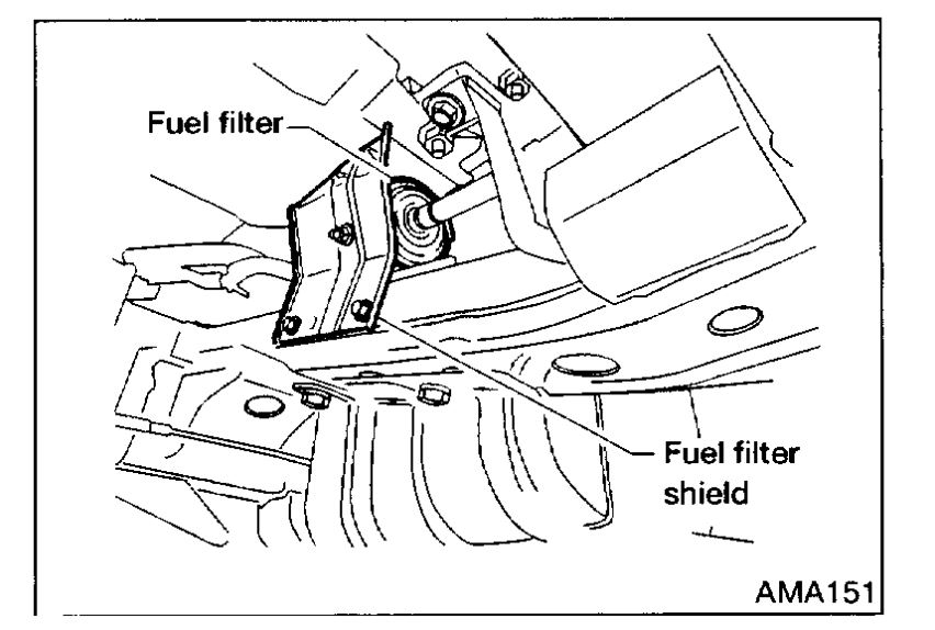 fuel filter replacement i need the location and procedures to Hyundai XG350 Fuel Filter Location