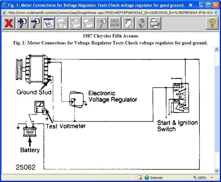 alternator/voltage regulator: alternator on 1987 chrysler ... external voltage regulator wiring diagram chrysler