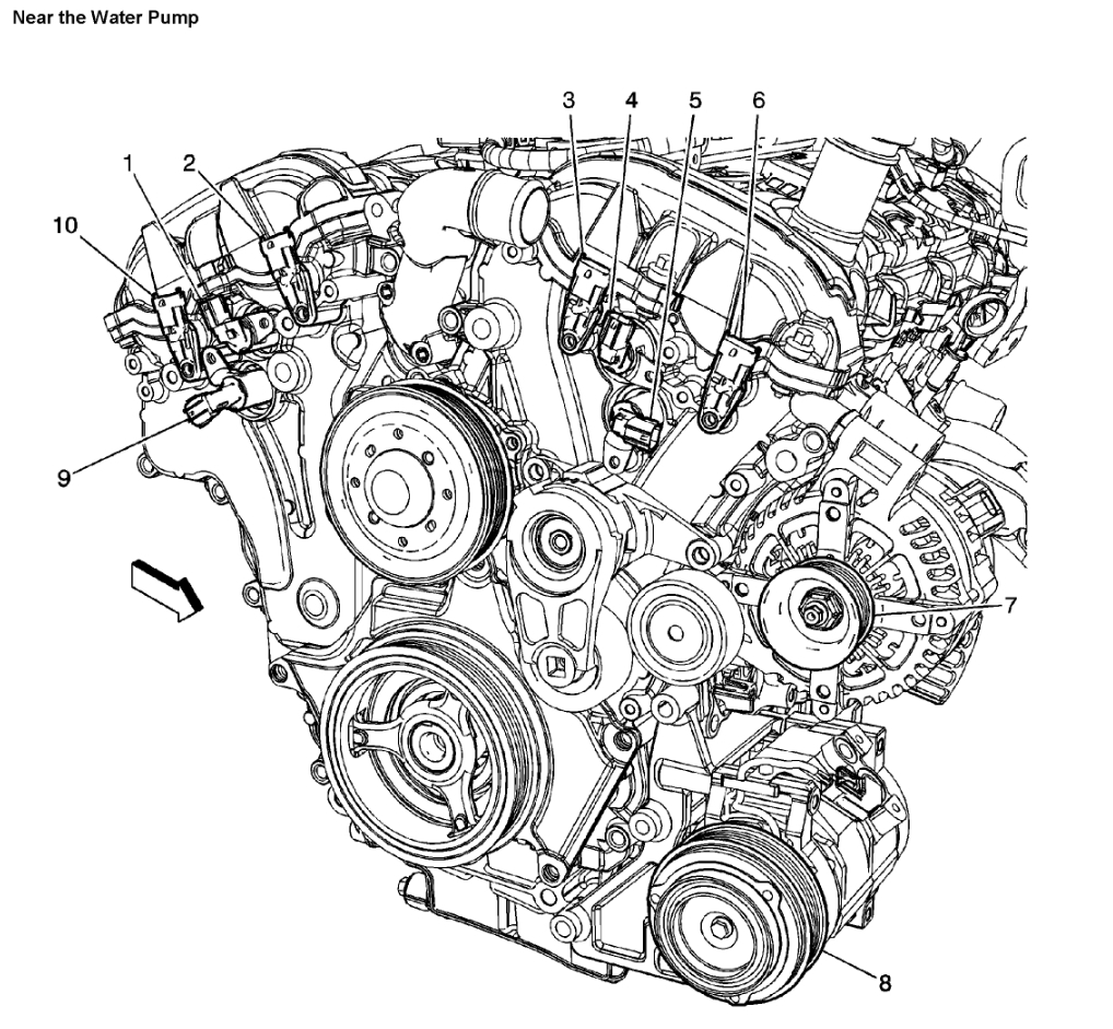 2012 chevy traverse engine diagram camshaft sensor locations