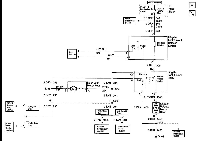 Wiring Diagram For The Power Door Locks On A 1999 Chevy Astro Van
